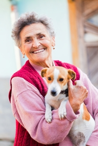 Elderly Lady with Pet
