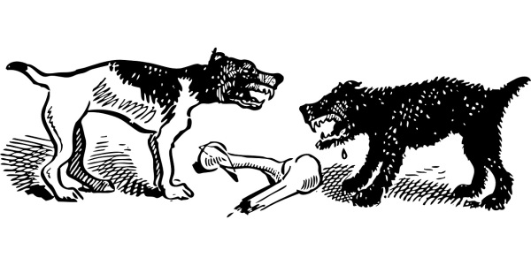 dogs fighting graphic